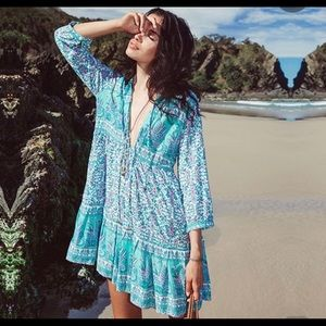 Dresses - Long Sleeve Boho Dress/Tunic